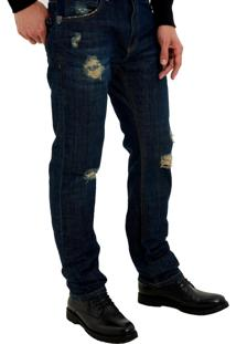 Calça John John Slim Monterosso 3D Jeans Azul Masculina (Jeans Claro, 40)
