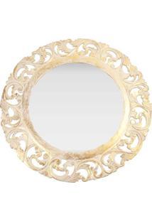 Espelho Redondo Com Moldura Pátina