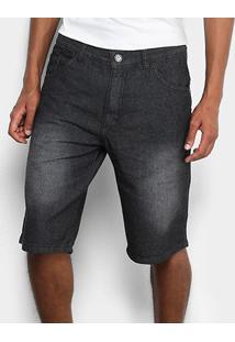 Bermuda Jeans Preston Black - Masculino