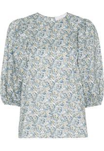 Les Rêveries Blusa Com Estampa Floral - Libeerty Chive