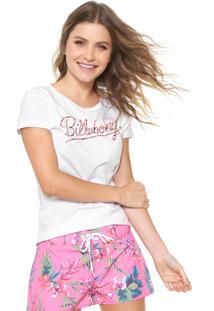 Camiseta Billabong Dream Flower L Branca