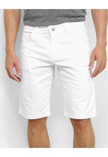Bermuda Sarja Ecxo Masculina - Masculino-Branco