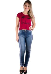 T-Shirt Estampada - Banna Hanna - Feminino-Bordô