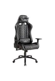 Cadeira Gamer Husky Gaming Hailstorm, Preto, Com Almofadas, Reclinável, Descanso De Braço 2D - Hha-Bk
