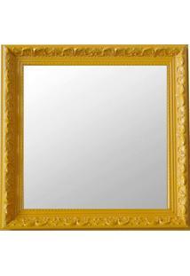 Espelho Moldura Rococó Raso 16374 Amarelo Art Shop