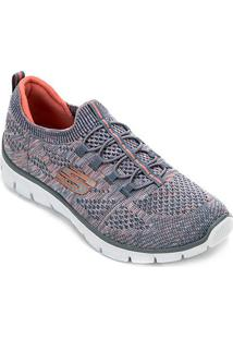 Tênis Skechers Empire-Sharp Thinki Feminino - Feminino-Azul+Rosa