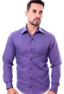 Camisa Pazan Slim Fit Roxa