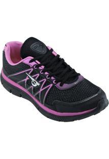 Tênis Glk 036 - Feminino-Preto+Pink
