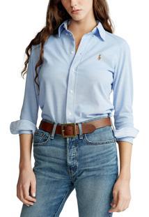 Camisa Polo Ralph Lauren Reta Lisa Azul