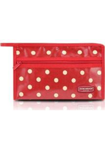 Necessaire Envelope Bolinha Look Jacki Design Feminino - Feminino-Vermelho