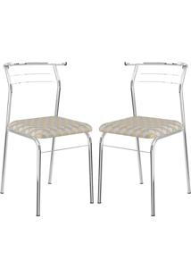 Cadeira 1708 Cromada 02 Unidades Retrô Metalizado Carraro