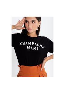 Camiseta Preview Champagne Mami Preto
