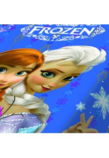 Cobertor Infantil Disney Frozen Poliéster Microfibra Jolitex 1,50Mx2,00M Azul