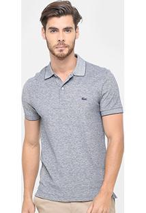 Camisa Polo Lacoste Piquet Mesclado Croco Color Masculina - Masculino
