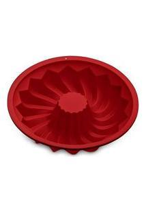 Forma De Silicone Redonda Vazada Vermelha Up Home - Ud173 Vermelho
