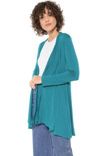 Cardigan Mercatto Liso Verde