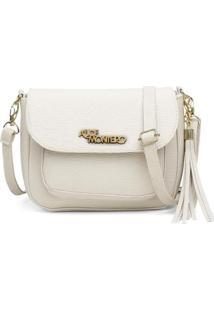 Bolsa Alice Monteiro Mini Com Bolso Frontal Externo - Feminino-Off White