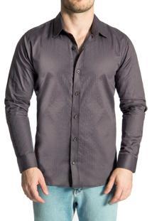 Camisa Sergio K. Maquineta Grey Cinza