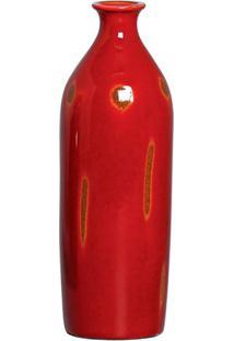 Vaso Decorativo Flower Vermelho 25X9 Cm