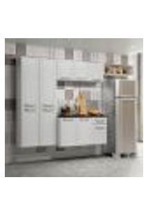 Cozinha Compacta Topázio Com Balcão Suspenso 10 Pt 1 Gv Branca