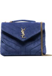 Saint Laurent Loulou Quilted Shoulder Bag - Azul