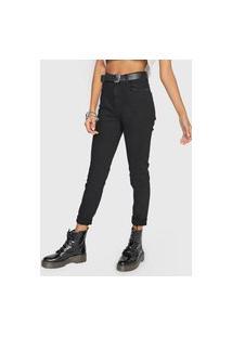 Calça Jeans Ellus Skinny Color Stretch Preta