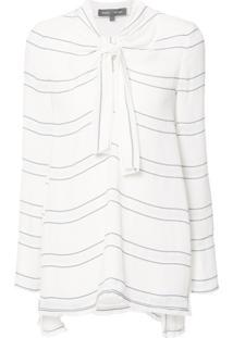 Proenza Schouler Blusa Listrada - Branco