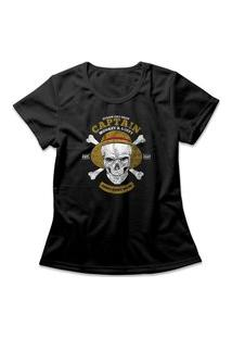 Camiseta Feminina One Piece Monkey D. Luffy Preto