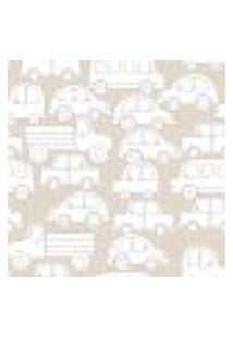 Papel De Parede Coleção Bim Bum Bam Bege Branco Carrinhos L01 2235 Cristiana Masi
