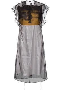 Calvin Klein 205W39Nyc Vestido 'X Andy Warhol Foundation' - Preto