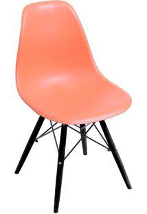 Cadeira Com Base Preta 1102-Or Design - Laranja