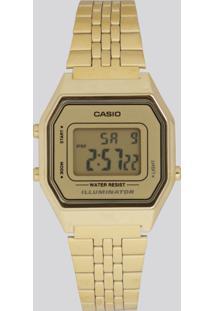 Relógio Digital Casio Feminino - La680Wga9Df Dourado