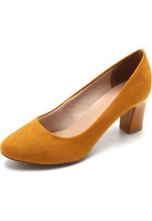 Scarpin Ala Liso Amarelo