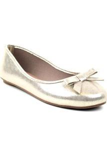 Sapatilha Tag Shoes Metalizada Dourado 37 - Feminino-Dourado