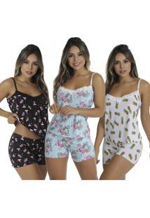 Baby Doll ThaãS Kit Com 3 Liganete - Preto - Feminino - Dafiti