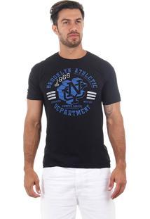 Camiseta Masculina Maidale - Pto/Azu