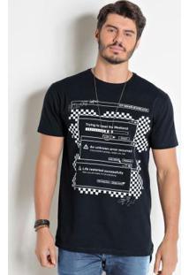 Camiseta Actual Long Line Preta
