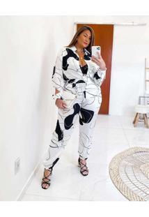 Calça Almaria Plus Size Miss Taylor Jogger Estampa