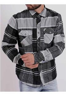 Camisa Federal Art Masculina - Masculino-Preto