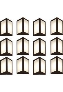 Arandela Triangular Marrom Kit Com 12 Casah - Marrom - Dafiti