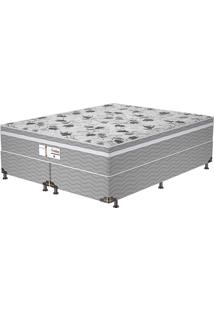 Cama Box King Evolution Plw Euro – Probel - Branco / Cinza