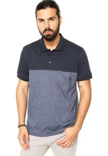 Camisa Polo Oakley Blend Block Azul