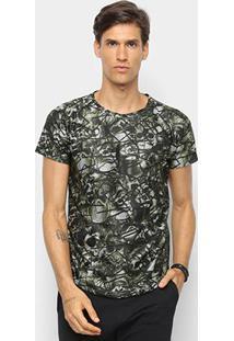 Camiseta Watkins & Krown Caveiras Masculina - Masculino