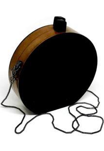 Bolsa La Madame Co Clutch Redonda Black - Kanui