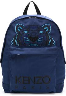Kenzo Mochila 'Tiger Canvas' - Azul