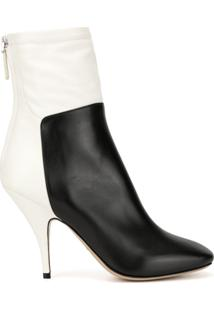 Petar Petrov Selma Two-Tone Ankle Boots - Branco