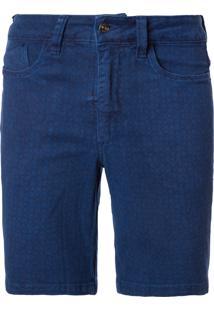 Bermuda Masculina 5 Pockets 70'S - Azul