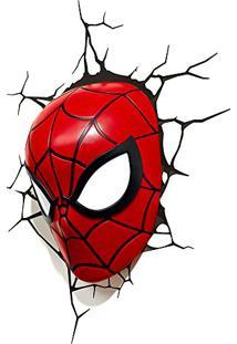Luminária 3D Light Fx Máscara Homem Aranha
