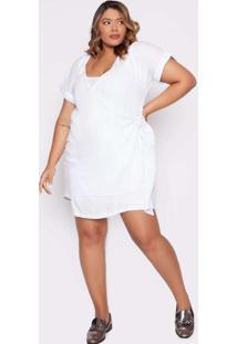 Vestido Almaria Plus Size Izzat Midi Branco