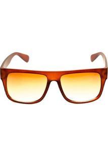 Óculos De Sol Thomaston Striped Hoop - Masculino-Marrom